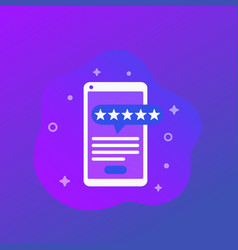 Mobile app review trendy icon vector
