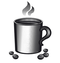 Mug of coffee vector