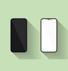 new design smartphones with blank white and black vector image