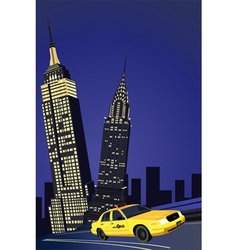 new york elements vector image vector image