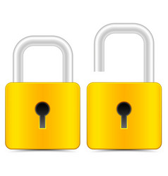 padlock icons padlock graphics on white vector image