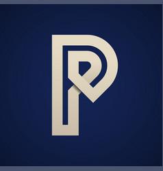 Paper p simple letter symbol vector