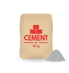 Paper sacks or bags of cement vector