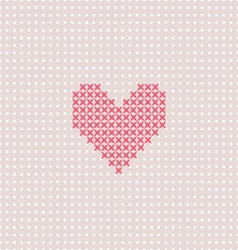 Pink heart on pink canvas vector