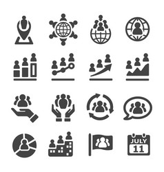 Population icon vector