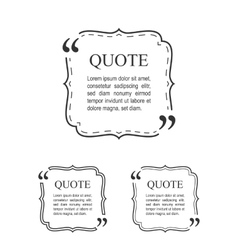 Quote Template In Vintage Frame Set Decorative vector