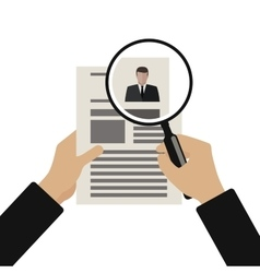Recruitment flat vector