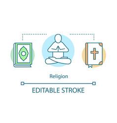 religion concept icon christian prayer idea thin vector image