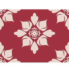 Seamless with flower 2 vector image