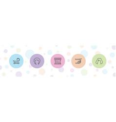 Shampoo icons vector