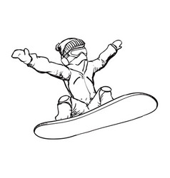 snowboard sport equipment vector image
