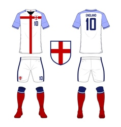 Soccer kit football jersey template for England vector image