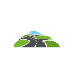 Speed highway roads intersection icon vector