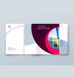 square cover with minimal magenta geometric design vector image