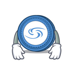 Tired syscoin mascot cartoon style vector