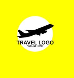 Travel logo template design vector