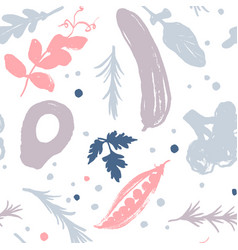 vegetable pattern with a half-square shift vector image