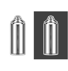 vintage monochrome highly detailed spray can vector image