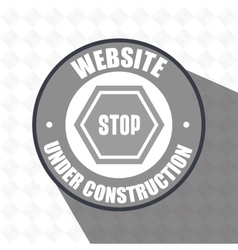 web site construction tool vector image