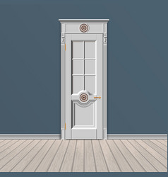 White entrance door vector