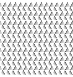 white geometric seamless pattern of triangles vector image