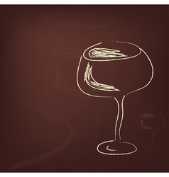 Wineglass vector image