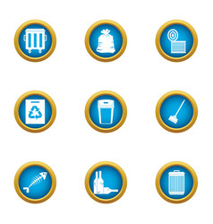 Withdrawal icons set flat style vector