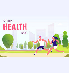 world health day background healthy lifestyle man vector image