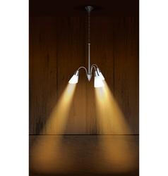 chandelier light vector image vector image