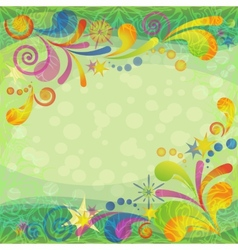 Christmas background with abstract patterns vector image