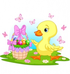 Easter duckling vector image