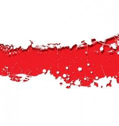 grunge strip background red splat vector image vector image