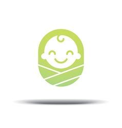 Logo design baby cheerful joyful kid vector image vector image