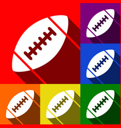 american simple football ball set of vector image