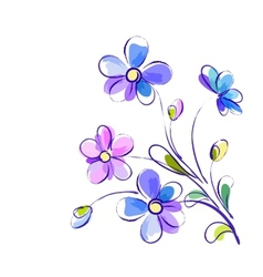 background with bright violet flowers vector image vector image