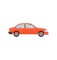 modern red car isolated vector image vector image