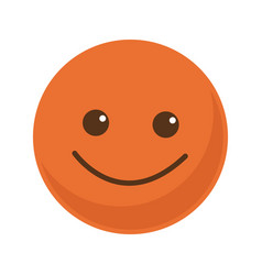 orange smile emoticon button icon vector image