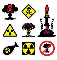 radiation hazard vector image vector image