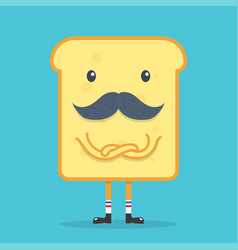 toast bread with mustache vector image