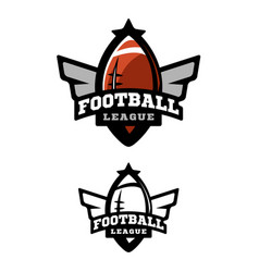 american football two variants vector image vector image