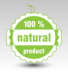 green natural product stamp tag label vector image