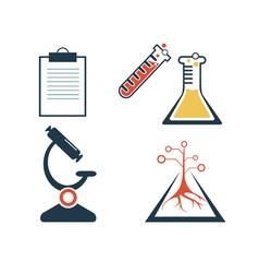 Lab icons set vector