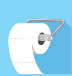 toilet paper icon flat style vector image