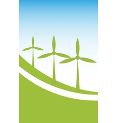 Wind power background vector image vector image