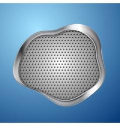 Abstract wavy metal steel background vector image vector image