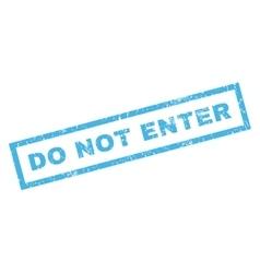 Do not enter rubber stamp vector