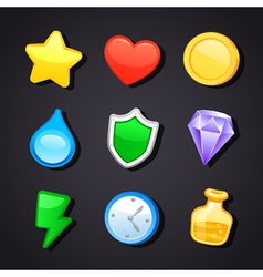 Game art design icons vector image