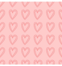 Hand drawn hearts seamless pattern background vector image vector image