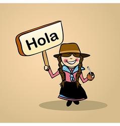 Hello from Uruguay people vector image vector image