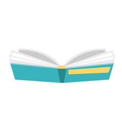 opened hardcover book cartoon vector image